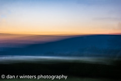 Morning In Impression (DanRWin [ista:danrwin]) Tags: shadow canandaigualake sunrise nature water mountains newyork lake longexposure orange clouds trees fingerlakes experimental morninghasbroken purple august impressionism green abstract color dawn mountain