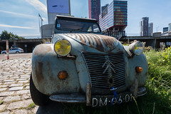 Rusty Duckling (ShutterBasset) Tags: 2cv deuxchevaux duckling citron double chevron rusty old classic oldnew modern rotterdam netherlands nikon tokina