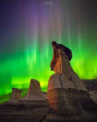 'Psychadelic Hoodoos' - Drumheller, Alberta (Gavin Hardcastle - Fototripper) Tags: northern lights nightscape aurora borealis alberta drumheller hoodoos badlands night astrophotography landscape alien stars dark gavinhardcastle fototripper