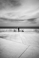 Reeling (pantagrapher) Tags: bw lake chicago fisherman nikon gbrearview michigan montrose chicagoist d600