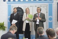 Philippe Crist, Sharon Masterson and José Viegas presenting
