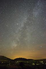 Milky Way - La Va Lctea (MkGrimaldos) Tags: sky night way de stars landscape noche la town pueblo paisaje sierra cielo estrellas constelacin astronomy milky constellation va nocturno elche astronoma lctea