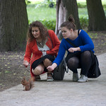 "Girls feeding squirrel<a href=""http://www.flickr.com/photos/28211982@N07/18055992659/"" target=""_blank"">View on Flickr</a>"