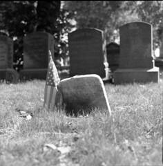 Amanda (triebensee) Tags: blackandwhite film monochrome cemetery brooklyn zeiss self memorial day greenwood 11 d76 hasselblad carl developed f28 planar 80mm 500cm 2015 fujineopanacros100 fujifilmneopanacros100 brooklynian