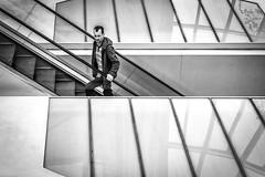 Nothing for Sale? (Susan Shervington) Tags: uk urban blackandwhite bw monochrome shopping blackwhite nikon centre escalator streetphotography ipswich buttermarket d7100