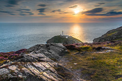 The Headland (Glenn D Reay) Tags: sunset sea irish sun lighthouse seascape wales golden pentax dusk south stack anglesey k30 pentaxart glennreay