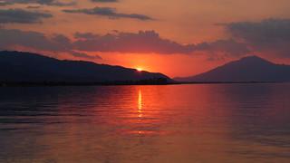 Ηλιοβασιλεμα Αγιος Νικολαος Αιγιο Ελλαδα P1070887