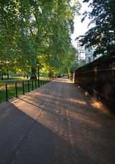 Queen's Walk (UncanD) Tags: park sunset london westminster shadows path greenpark