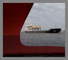 Bulk Ship Coming to Berth by Bill Mcallen 5DD8479 (bill mcallen) Tags: ships ship bulk berth docking bow water shape mcallen bill
