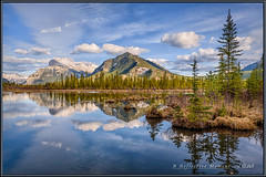 Reflective Moment (Maclobster) Tags: park reflections lakes national banff vermillion