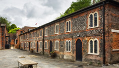 Servants' Cottages (stewartl2010) Tags: uk england heritage history rain workers cloudy unitedkingdom victorian hampshire gb 1850s papermill servants laverstoke grade2listed nikfilters laverstokemill colorefexpro4 bombaysapphiredistillery henriportal