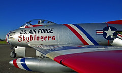 North American F-86F Sabre (JetDr757) Tags: north american f86f sabre nx86fr northamerican f86fsabre fu201 31201 skyblazers usaf