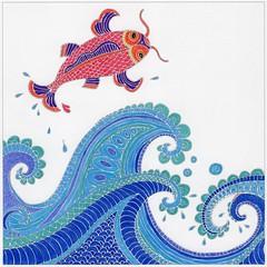 Flying Carp (beautifulcataya) Tags: coloring coloringbooks adultcoloring