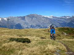 Autumn Riding around Verbier  (108) (Carl and Sian) Tags: orange alps switzerland mtb mountainbiking verbier singletrack orangefive bikeverbier alpinesingletrack carlandsian