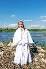 Session First Communion Oliwia on the Wisla (krzysztof_los) Tags: session first communion oliwia river wisla dxo optic pro 9 canon 1ds sesja komunijna pierwsza komunia wita