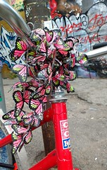 For Gail .... (Georgie_grrl) Tags: bicycle butterflies ccm decoration beautiful lovely forgailwithlove kensingtonmarket bikingtoronto changemyliferideabike torontoontario