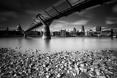Millennium Bridge, London (SNeequaye) Tags: uk sunset england bw sun white black london water skyline towerbridge sunrise londonbridge underground blackwhite still nikon view unitedkingdom tube thecity housesofparliament rail londoneye bigben millenniumbridge fisheye poppy nd slowshutter londonunderground kingscross canarywharf tamron riverthames gherkin southlondon citibank hsbc tower42 hungerfordbridge theview barclays eastlondon slowexposure waterloobridge palaceofwestminster selectivecolour londonbridgestation cheesegrater southwarkbridge 2470mm 1635mm thesquaremile lighttunnel neutraldensityfilter 20fenchurchstreet stpancrasinternational leefilter nikon105mmfisheye tamron70200mm theshard herontower southbanktower tamron2470mm nikon1635mm selectivecolourphotography leendgraduatedfilter theskygarden 122leadenhallbuilding healsstaircase nikond750 adamsplazabridge
