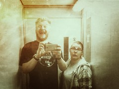 Normal people doing normal elevator stuff (qp1977) Tags: 7dwf monochrome portrait people insanity huaweip9