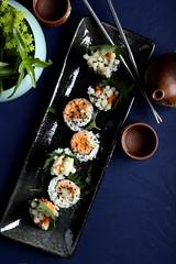 IMG_0010 (Olives for Dinner) Tags: sushi mushrooms vegan sushiroll enoki enokimushroom vegansushi