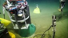 Lowering the Titan accelerometer into the caisson (Ocean Networks Canada) Tags: eews earthquakeearlywarning caisson titanaccelerometer accelerometer warning earthquake sensor barkleycanyon wiringtheabyss2016 slide2016