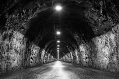 Norway from below (explored) (Markus Trienke) Tags: norwegen sommer urlaub tunnel black white bw street mreogromsdal explored