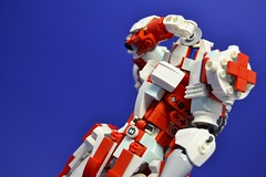Medic_08 (Shadowgear6335) Tags: red white robot lego system technic medic bionicle moc shadowgear shadowgear6335