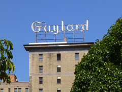 Los Angeles, CA Gaylord scaffold sign (army.arch) Tags: losangeles california ca rooftop roof scaffold sign gaylord