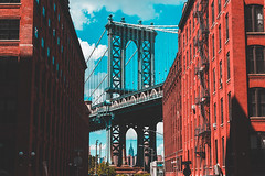 Empire State Building Framed by the Manhattan Bridge (masemase) Tags: summer august brooklyn dumbo friends new york city nyc manhattan bridge empire state building esb skyline newyork newyorkcity