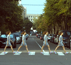 In Love with the Beatles (El Mariachi Minsk) Tags: minsk belarus streetphoto canon canoneos canonef70200mmf28lis music fun photoshop naturalillumination summer summertime iconic city urban urbanlandscape llens lseries girl girls beatles abbeyroad rocknroll
