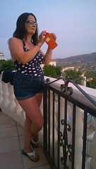Spain 2016 - Nokia Lumia 1020 - Lisa shooting the Sunset on her phone (Gareth Wonfor (TempusVolat)) Tags: curved curvy holiday spainholiday spain 2016 vacance summer gareth wonfor tempus volat mrmorodo tempusvolat garethwonfor nokia lumia 1020 mobile mobilephone cameraphone wife lisa girl woman holidaysnaps negative beauty beautiful brunette beautifulwife beautifulwoman prettywife attractive pretty lovelywife mywife mygirl gorgeouswife lovelylisa prettylisa goodlooking goodlooks spouse lover lovely love allure mole tummy boobs voluptuous boob breast breasts demure shapely curvaceous sexy shorts shortpants short curvygirl curvybrunette leesa leesamattress