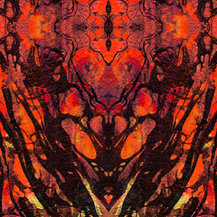 Red Abstract Art - Heart Matters - Sharon Cummings (BuyAbstractArtPaintingsSharonCummings) Tags: red crimson abstract modern contemporary modernart contemporaryart abstractart redandblack black deepred darkred brightred orange heart hearts love loving soothing ultramodern mirrorimage spiritual spirituality blackandred sharoncummings warm warmcolors fallcolors heat hot redhot fire
