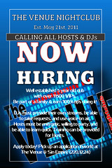 The Venue Hiring Flyer (AddisonLynnRose Residnet) Tags: second life sl virtual nightclub nightlife employment djs hosts the venue hiring jobs