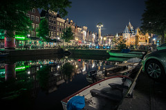 Amsterdam XXX (McQuaide Photography) Tags: amsterdam noordholland northholland netherlands nederland holland dutch europe sony a7rii ilce7rm2 alpha mirrorless 1635mm sonyzeiss zeiss variotessar fullframe mcquaidephotography adobe photoshop lightroom tripod manfrotto light licht night nacht nightphotography longexposure stad city capitalcity urban lowlight architecture outdoor outside old oud gracht grachtenpand canalhouse house huis huizen traditional authentic water reflection centrum gebouw building waterfront waterside canal colour colours color boat boot xxx wideangle groothoek wideanglelens nieuwmarkt dewaag kloveniersburgwal