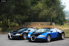 Lovebugs. (ZainSyedPhoto) Tags: bugatti veyron 164 blue black california carweek carweek2016 carmel