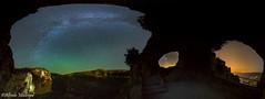 El triple Ventano (Alfredo Madrigal) Tags: astronomy astrofotografa astronoma astrophotography astrofoto astrofotografia milky milkyway via lactea panoramica panoramic night nightscape noche nocturna cuenca ventano diablo serrana