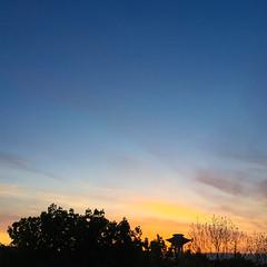 Hyllie Sunset (Hkan Dahlstrm) Tags: blue sunset sky orange photography se skne sweden watertower f22 uncropped malm iphone 2015 vattentorn hyllie skneln iphonephoto sek iphone6 iphone6backcamera415mmf22 malmfosieborg 1315052015211147