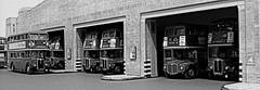 Upton Park bus garage (kingsway john) Tags: park bus scale model garage card u routemaster kit oo gauge rt diorama upton rm 176