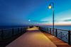 Pietrasanta sunset (Martin Zurek) Tags: italien light sunset italy water wasser sonnenuntergang it bluehour toscana steg toskana pietrasanta smörgåsbord toscany tonfanoilpontile