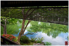 Little gem in Kyoto Gosho (Damien Douxchamps) Tags: wood japan garden pond kyoto terrace central   kansai japon satsuki  imperialgarden kinki   baluster    shusuitei
