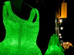 """The Dresses"" (Tae Gon Kim) (Japester68) Tags: city light sculpture art thread festival night strand clothing dress outdoor sydney vivid australia event nsw material cloth aus 5star fiberoptic fibreoptic"