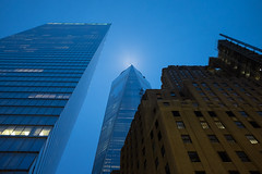 Mist Needle (ekonon) Tags: nyc building architecture published dusk manhattan lowermanhattan 1wtc