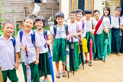 Myanmar team ready for rainy season; back-to-school preparations underway for 125 students (Peace Gospel) Tags: school friends cute students beautiful beauty smile rain smiling kids umbrella children happy hope student education friend uniform peace child friendship joy smiles adorable handsome peaceful happiness excited learning empowered supplies joyful brotherhood umbrellas teach educate learn sustainability sisterhood hopeful empowerment empower