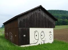Bunker Frick Breiti, Hauptstrasse Ostausfahrt, Aargau, Switzerland (W-chlaus) Tags: hello face schweiz switzerland suisse fort swiss wwii krieg bunker camouflage ww2 aargau armee frick tarnung fricktal sperre grezi breiti argovia bzberg defilade bunkerfreunde