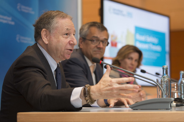 Jean Todt presents road safety information