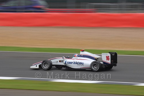 Matevos Isaakyan in the Koiranen GP car in qualifying for GP3 at the 2016 British Grand Prix