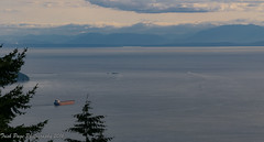 Places to Go (trishp97) Tags: horizon landscape west coast freighter mountains sky
