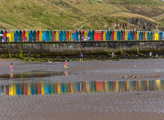 Beach huts (No9 (Tony)) Tags: whitby beach colorful colors colourful colours huts sand seaside summer sun