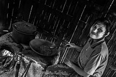 Bali 1 (kruser1947 (all killer no filler)) Tags: bw bali coffee girl monochrome blackwhite ubud