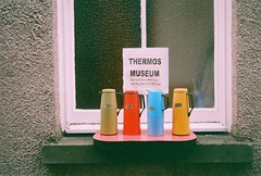 Thermos Museum (Mrs.Black&White) Tags: thermos zeissikon continaiii expired35mmfilm flask window