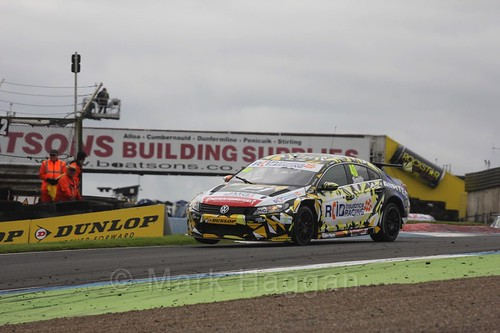 Árón Smith in race one during the BTCC Knockhill Weekend 2016
